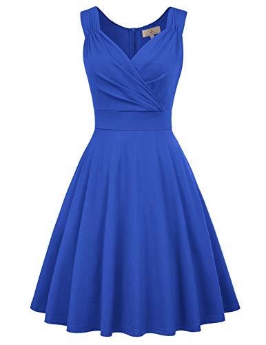GRACE KARIN Mujer Vestido Corto Elegante para Fiesta Cóctel M CL010698-6