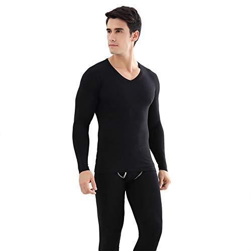 JIEHED Thermal Underwear, Seamless Elastic Thermal Inner Wear, Thermal Sets, Women Men Winter Warm Clothes, Underwear Set,V-Neck Men's Thermal Sets,Long Sleeve Top & Long Set
