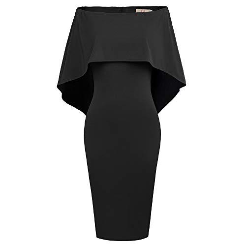 GRACE KARIN Vestido Casual para Mujer Vestido de Hombro con Las Caderas Envuelto en El Banquete de Bodas por La Noche XL CLAF39-1