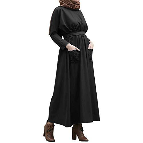 Musulmán Islámica Abaya,Ropa Muslmana Mujer Maxi Vestidos Color Sólido con Perlas Elegante Dubai Turquia de Verano Árabe Kaftan Vestidos Sueltos Oriente Medio Estilo Étnico
