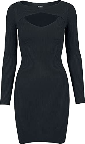 Urban Classics Ladies Cut out Dress Vestido, Negro (Black 7), M para Mujer