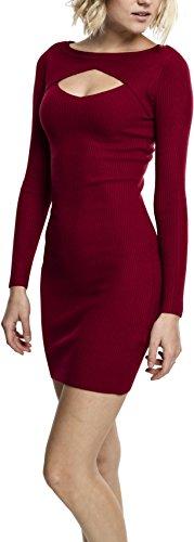 Urban Classics Ladies Cut out Dress Vestido, Rojo (Borgoña 606), XS para Mujer