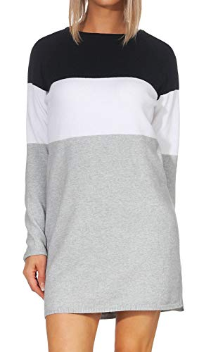 Only Onllillo L/s Dress Knt Noos Vestido, Multicolor (Night Sky White), X-Large para Mujer