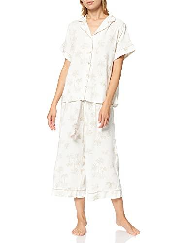 Women' Secret Short Sleeves Masculine Pyjama Must Vestidos Juego de Pijama, Estampado Blanco, M para Mujer