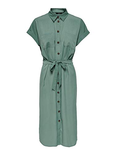 Only ONLHANNOVER S/S Shirt Dress Noos WVN Casual, Laurel Wreath, 38 para Mujer