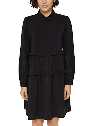 Esprit 091EE1E320 Vestido, 001/negro, 38 para Mujer