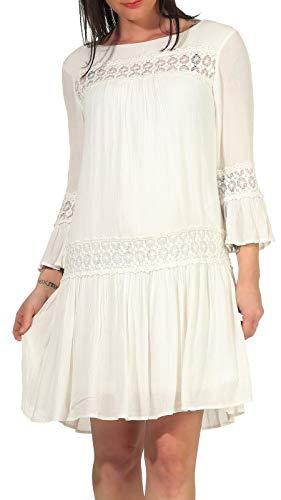 Only Onltyra 3/4 Flare Short Dress Wvn Noos Vestido Casual, Cloud Dancer, 38 para Mujer