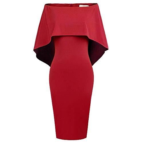 GRACE KARIN Vestido de Fiesta Elegante de La Mujer Vestido Ajustado de Fiesta Vestido de Fiesta en Dama de Honor S CLAF39-8
