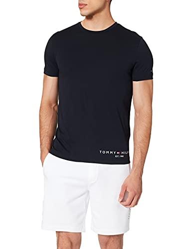 Tommy Hilfiger Hilfiger Logo tee Camiseta, Cielo del Desierto, L para Hombre