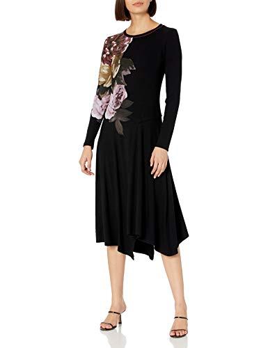 Desigual Vest_Rose Vestido Casual, Negro, XL para Mujer