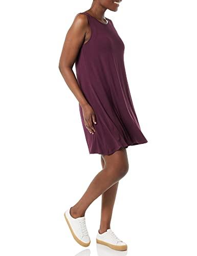 Amazon Essentials - Vestido sin mangas para mujer, Burgundy, US XS (EU XS - S)