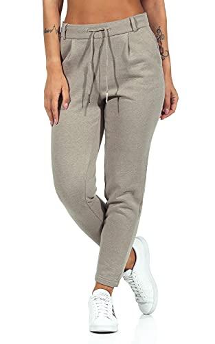 Only ONLPOPSWEAT Every Life Easy PNT Noos Pantalón de Vestir, WalnutDetail:Pure Cashmere Melange, L/34 para Mujer