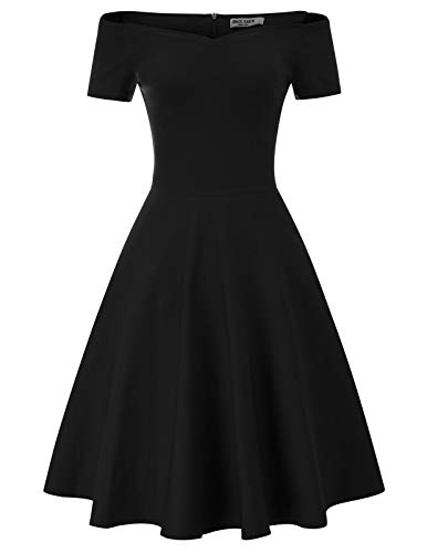 GRACE KARIN Mujer Vestido Vintage con Vuelo de Fiesta Retro M CL011020-1