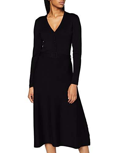 Esprit 090eo1e304 Vestido, 001/Negro, XXL para Mujer