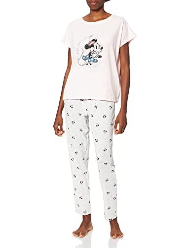 Women' Secret Short Sleeves Long Pant Pyjama Must Vestidos Juego de Pijama, Rosa, L para Mujer