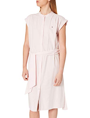 Tommy Hilfiger Oxford Knee Shirt Dress NS Vestido Informal, Rosa, 36 para Mujer