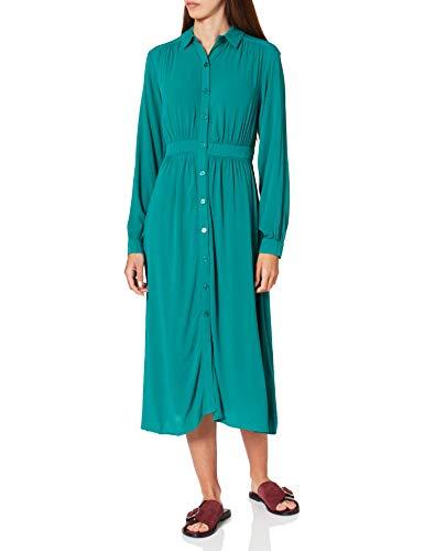 Springfield Vestido Midi Camisero, Verde, 40 para Mujer