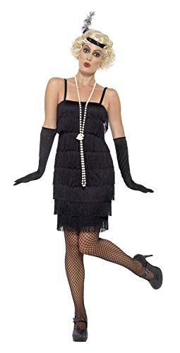 Smiffy's - Disfraz para mujer, Flapper, años '20, Negro, S (36-38 EU)