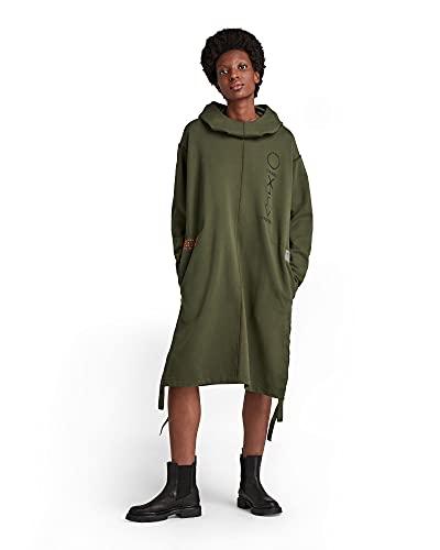 G-STAR RAW Hooded Long Sweat Vestido Casual, Verde (Dk Bronze Green A613-6059), M para Mujer