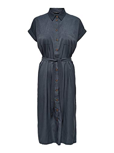 Only ONLHANNOVER S/S Shirt Dress Noos WVN Casual, India Ink, 34 para Mujer