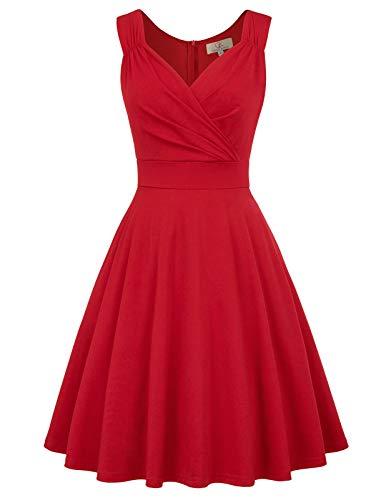 GRACE KARIN Mujer Vestido Elegante Años 50 Vestido de Mujeres Rockabilly Clásico L CL010698-5
