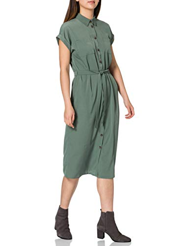 ONLY TALL ONLHANNOVER Tall S/S Shirt Dress WVN Vestido Camisero, Laurel Wreath, 42 Alto para Mujer