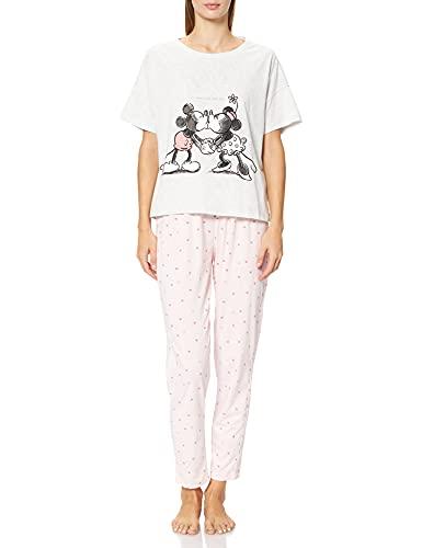Women' Secret Short Sleeves Long Pant Pyjama Must Vestidos Juego de Pijama, Gris Oscuro, XL para Mujer