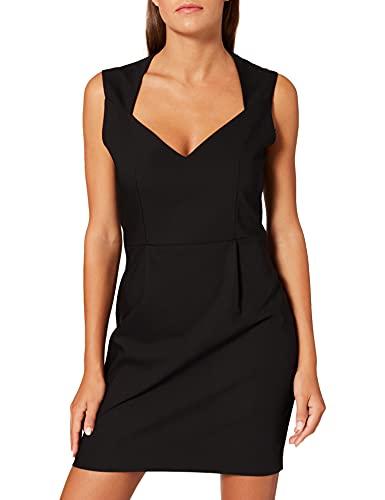 Morgan Robe SM Unie Encollure Carree 212-regina.f Vestido, Negro, 38 para Mujer