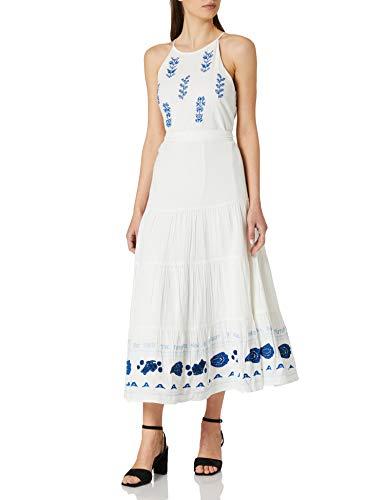 Desigual Vest_Memphis Vestido Casual, Blanco, XL para Mujer