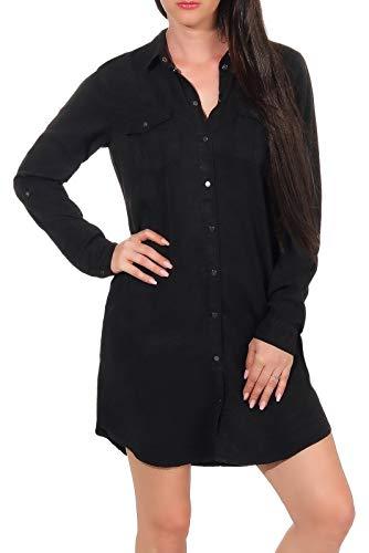 Vero Moda Vmsilla LS Short Dress Blck Noos Ga Vestido, Negro (Black Black), 44 (Talla del Fabricante: X-Large) para Mujer