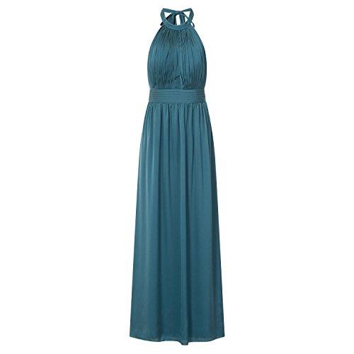 Little Mistress - Vestido largo con abertura en forma de cerradura para mujer (42/Azul petróleo)