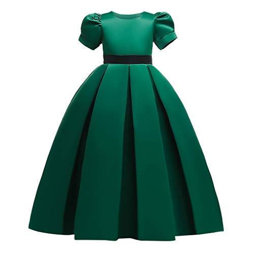 K-Youth Vestido Princesa Niña Vestido de Fiesta Niña Disfraz Noche Vestidos para Ninas para Boda Largo Vestido de Novia Chica Vestidos Ceremonia Niña Vestido de Cóctel Cumpleaños (Verde, 15-16 años)