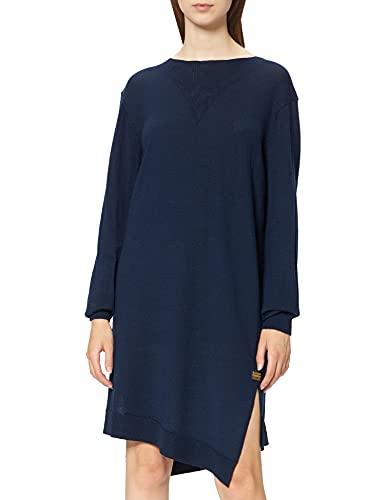 G-STAR RAW Cross Knit Vestido Casual, Azul (Luna Blue B670-c630), L para Mujer