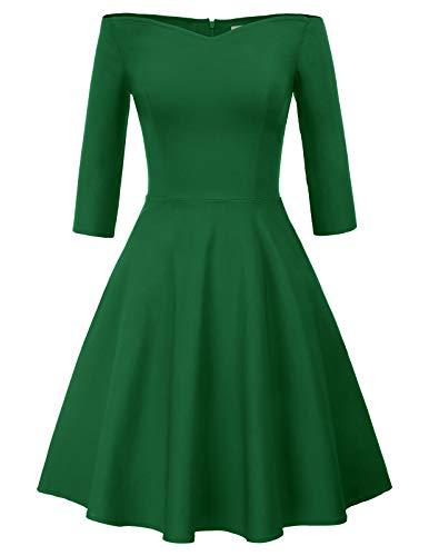 GRACE KARIN Mujer Vestido Elegante Años 50 Vestido de Mujeres Rockabilly Clásico L CL010823-4
