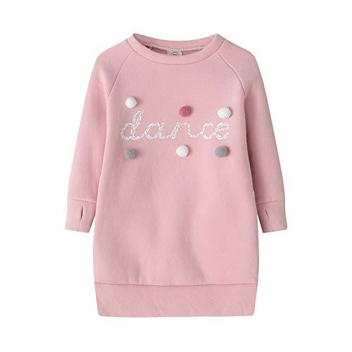 Bebé Niñas Cálido Otoño Suéter Vestido Bebé Niñas Invierno Ropa De Felpa Bola De Manga Larga Stright Niñas Fiesta Vestidos De Princesa