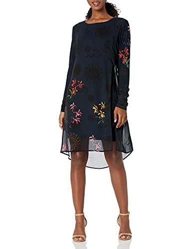 Desigual Vest_Gabrielle Vestido Casual, Azul, L para Mujer