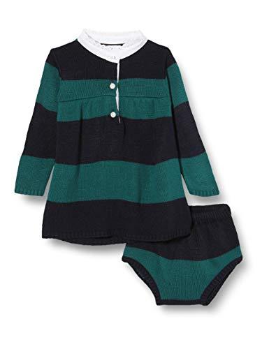 Gocco Vestido Polo Punto Rayas Marino Y Verde Dress, 44086 para Bebés