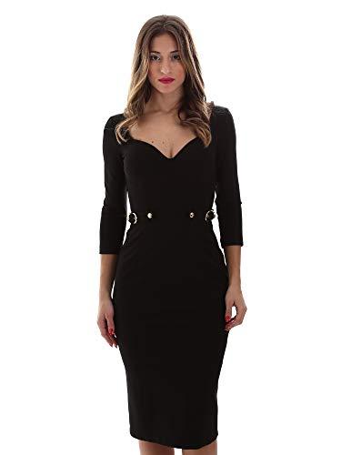 VERSACE JEANS COUTURE Abito Vestido de Fiesta, Negro (Negro 899), 32 (Talla del Fabricante: 36) para Mujer