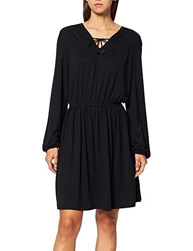 edc by Esprit 091CC1E303 Vestido, 001/negro, XXL para Mujer