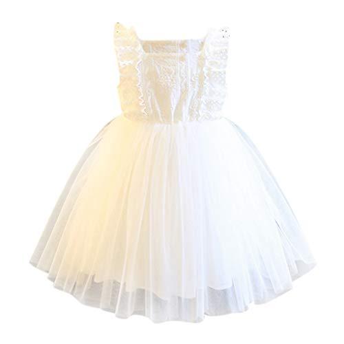 K-youth® Vestido de Tul con Bordados para Niña Ropa de Bebe Niña de Verano a la Moda 2019 Vestidos de Niñas Boda Fiesta Vestido de Princesa Encaje Cóctel Vestido para Chicas