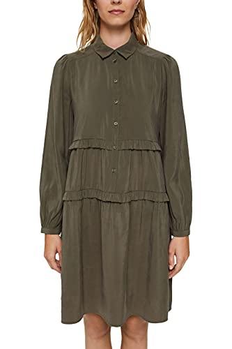 Esprit 091EE1E320 Vestido, 355/caqui Oscuro, 38 para Mujer