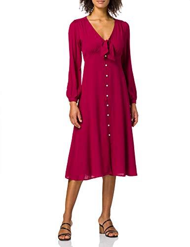Springfield Vestido Largo Nudo Escote, Naranja, 40 para Mujer