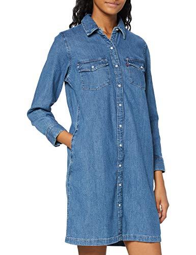 Levi's Selma Dress Vestido, Blue (Going Steady (2) 0000), Large para Mujer