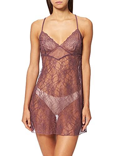 Women' Secret Straps Short Nightdress Must Vestidos Camisón, Granate, L para Mujer