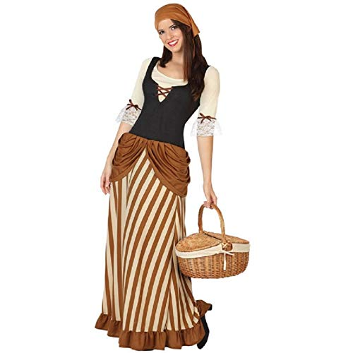 ATOSA disfraz mesonera mujer adulto marrón XL