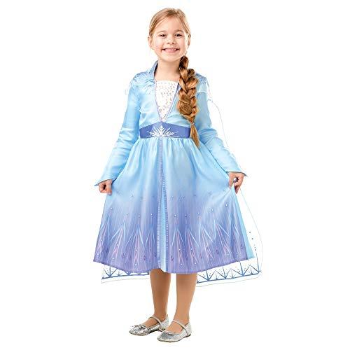 Disney, Elsa Travel Frozen2 Classic - Disfraz de Elsa Travel, Multicolor, L (7-8 años)