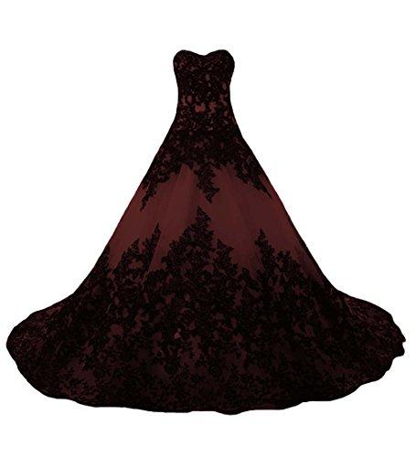 O.D.W O.D.W.Handmade Appliqued Lace Colorido Gótico Vestidos De Novia Corsé Vintage Vestidos De Novia