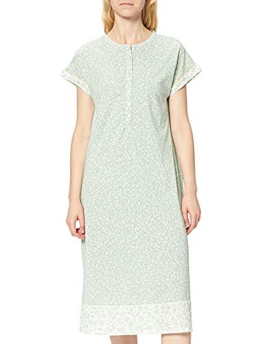 Women' Secret Short Sleeves Medium Nightdress Must Vestidos Camisón, Estampado Verde, L para Mujer