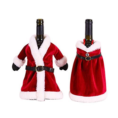 Feliz Navidad vestido falda botella de vino cubierta Año Nuevo 2021 decoración de Navidad decoraciones para decoración del hogar regalos Navidad