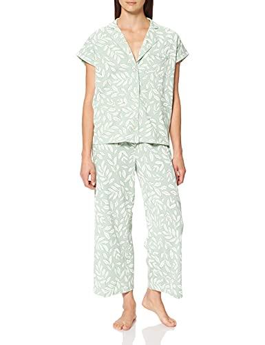 Women' Secret Short Sleeves Masculine Pyjama Must Vestidos Juego de Pijama, Estampado Verde, M para Mujer